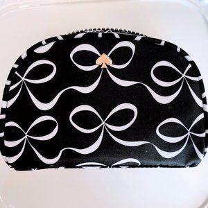Kate Spade Jae Elegant Bow B&W Dome Cosmetic Bag